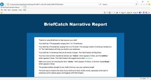 BriefCatch Narrative Report